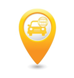 cars transmission MAP pointer yellow vector image vector image