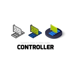 Controller icon in different style vector image vector image