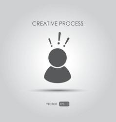 Copywriting icon creative process vector