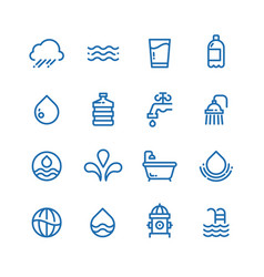 crystal clean water drops fresh drinks and vector image