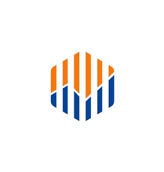 Diagram line business finance logo vector