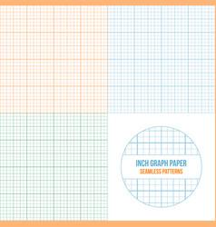 Graph paper seamless patterns set vector