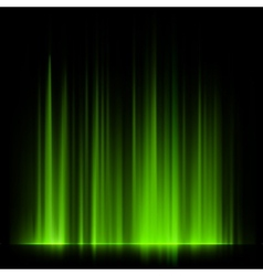 Green northern lights aurora borealis eps 10 vector
