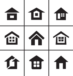 Home real estate icons set vector