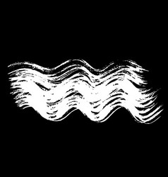 Ink brush wave strokes vector
