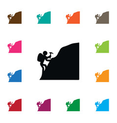 Isolated piolet icon mountaineer element vector