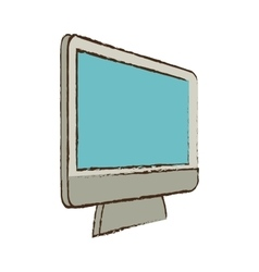 Monitor device technology electronic sketch vector