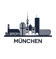 Munich skyline emblem vector
