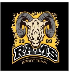 Rams logo for a sport team vector