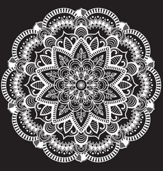 Round indian pattern vector