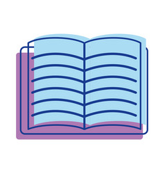 School notebook open to study icon vector