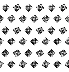 seamless abstract boho black and white pattern vector image