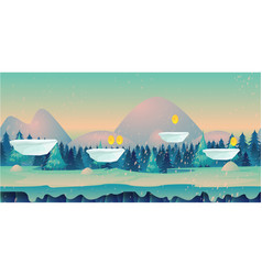 seamless cartoon nature winter landscape with vector image vector image