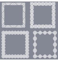 Set of white frames vector