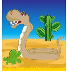 Snake in desert vector