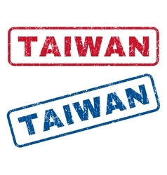Taiwan rubber stamps vector