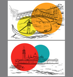 Venice sketch design vector