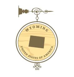 Vintage label Wyoming vector image vector image