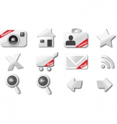 web shopping icons vector image vector image