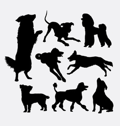 Dog pet animal silhouette 6 vector