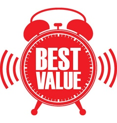 Best value red alarm clock vector image