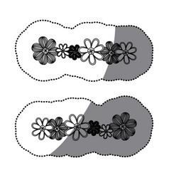 sticker monochrome minimalistic background with vector image