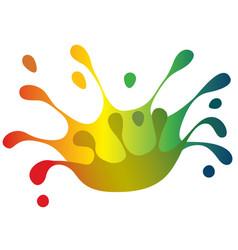 Color splash crown vector