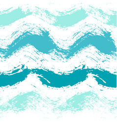 Painted sea waves pattern background vector