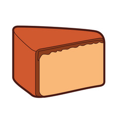 Yummy sweet cake slide piece vector