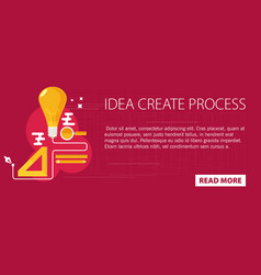 Idea creating process concept flat vector