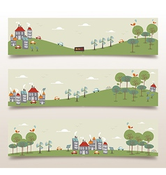 Go green banner set vector