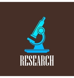 With microscope icon science concept vector
