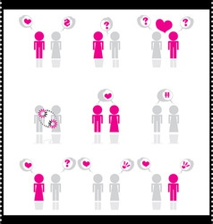 Relationship icons vector