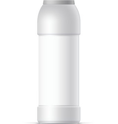 White plastic bottle for cleaning powder vector