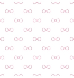 Cute minimalistic bow tie seamless pattern vector