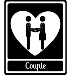 Couple life design vector