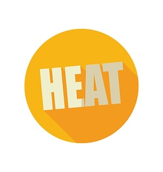Heat flat icon summer vacation vector