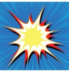 Comic book explosion bubble dynamic vector