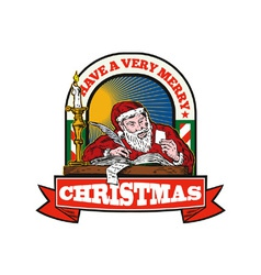 Santa claus father christmas writing letter vector