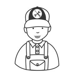 Repair mechanic man icon vector