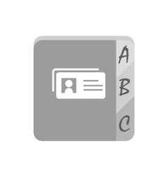 Telephone book icon vector
