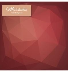 Abstract polygonal background marsala vector
