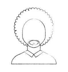 Black man with afro vector