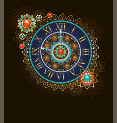 clock with beads vector image vector image