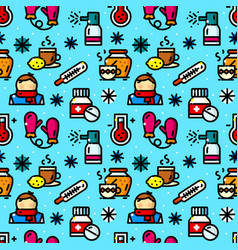 Cold seamless pattern vector