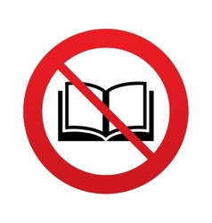 Dont read book sign icon open book symbol vector
