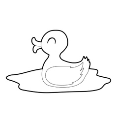 Duck icon isometric 3d style vector image vector image