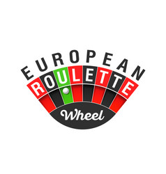 european roulette wheel sign vector image