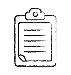 Figure check list business document in the vector