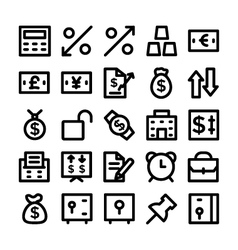 Finance and money colored icons 5 vector